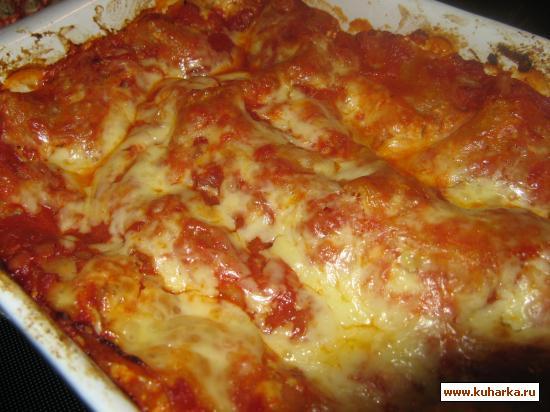 Рецепт Лазанья с помидорами и моцареллой