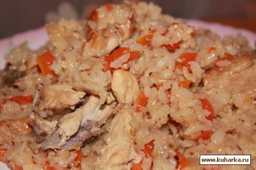 Рецепт Узбекский плов с курицей
