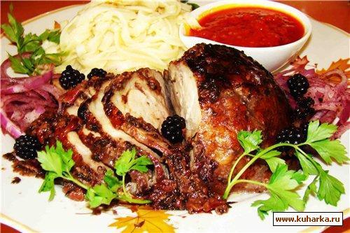 Рецепт Мясо под соусом из кизила и ежевики