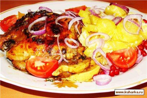 Рецепт Курица запеченая в соусе