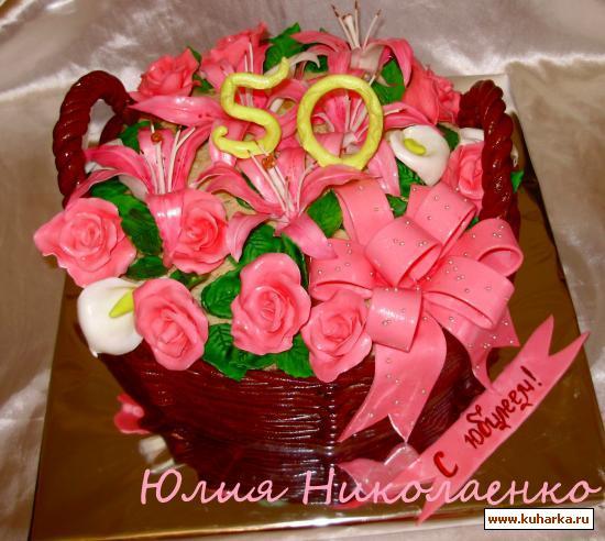Торт для женщины 60 лет фото