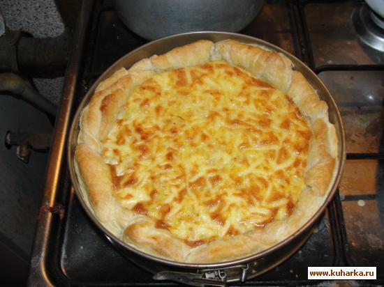 Рецепт Слоёный пирог с рыбой холодного копчения