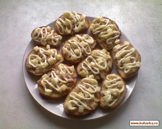 Рецепт Запечённые бутерброды с курицей