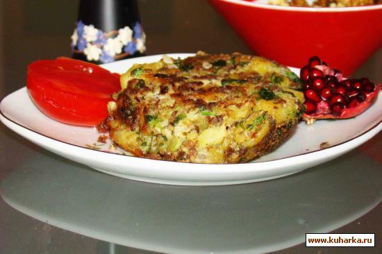 Рецепт Мясо с картофелью из духовки