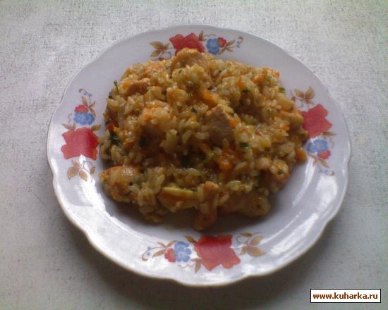 Рецепт Куриный плов приготовленный в горшочке