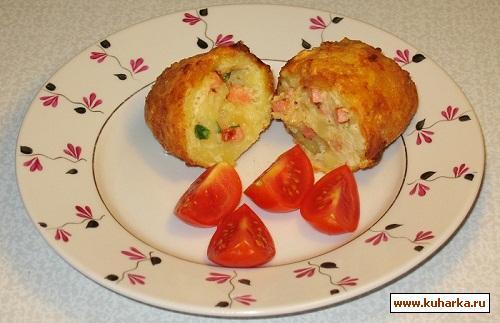 Рецепт Картофель с начинкой в хрустящей панировке