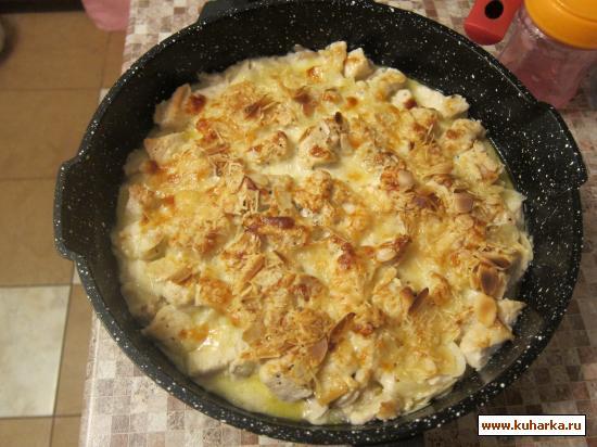 Рецепт Курица в винно-грибном соусе