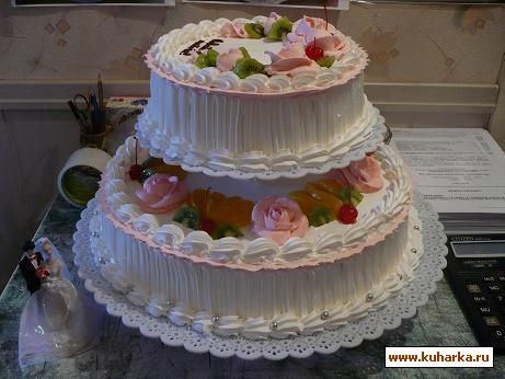 Рецепт Свадебный торт на этажерке