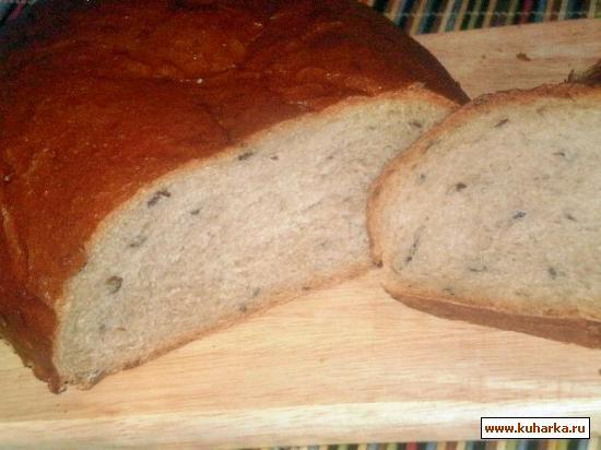 Рецепт Хлеб с цельнозерновой мукой и льняным семенем