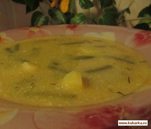 Рецепт Суп с зеленой фасолью