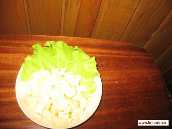 Рецепт Салат картофельный с чесноком