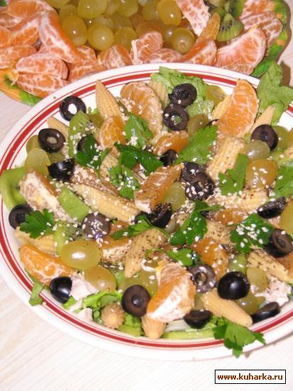 """Рецепт Салат """"Курица с мандаринами"""""""
