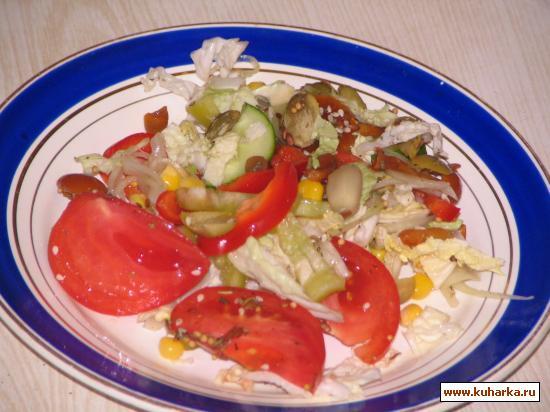 Рецепт Салат с грибами и овощами