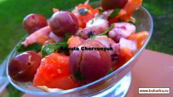 Рецепт Тунисский салат с осьминогом.