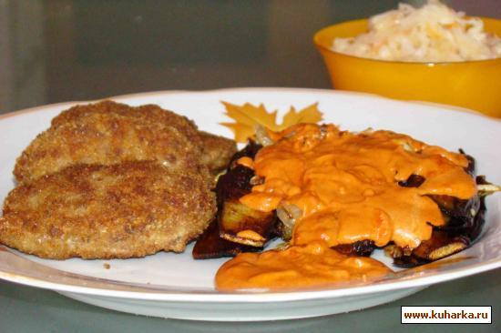 Рецепт Баклажаны,жареные с луком