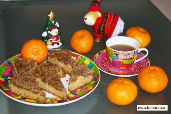 Рецепт Пирог с орехами и айвой