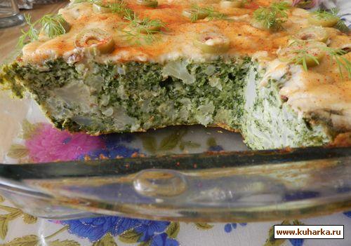Рецепт Запеканка с брокколи и цв. капустой
