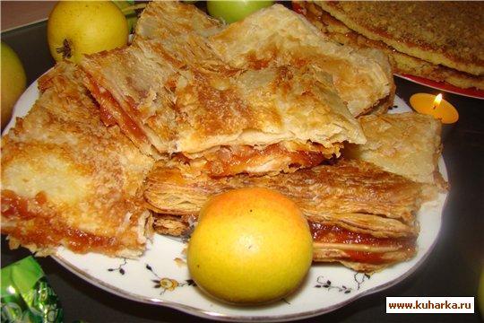 Рецепт Слойки с яблочным джемом