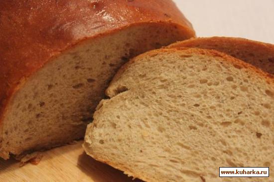 Рецепт Хлеб с гречневой мукой и тмином