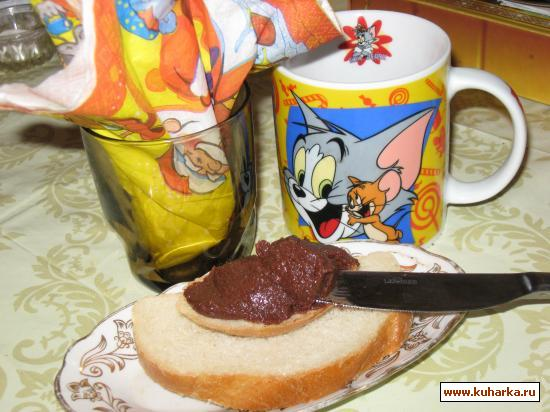 Рецепт Шоколадно-ореховая паста
