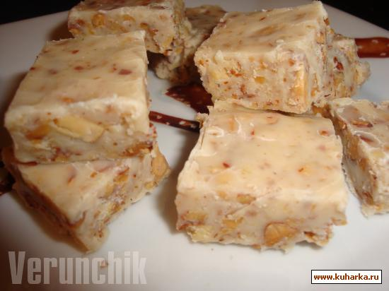 Рецепт Белая шоколадная помадка