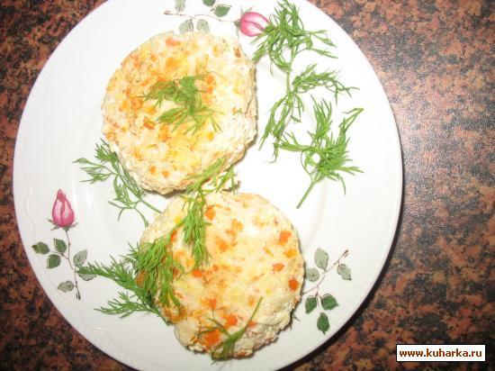 Рецепт Котлеты рыбные с морковью диетические