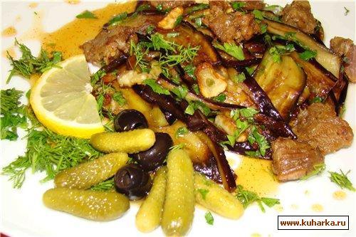 Рецепт Баклажаны в лимонно-медовой карамели