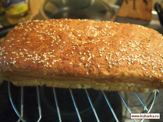 Рецепт Быстрый овсяный хлеб без замеса