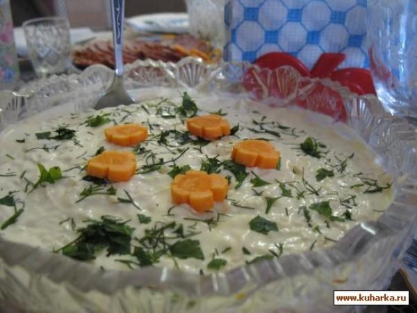 салат ландыш рецепт с фото