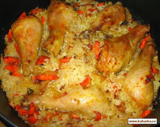 Окорочка с рисом в духовке рецепт пошагово с