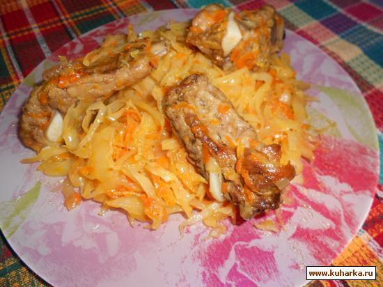 Рецепт Бигус на свиных ребрышках