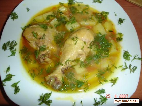 Рецепт Картофельный суп с курицей