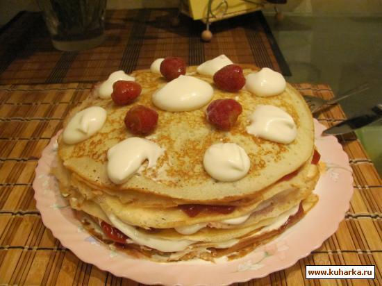 """Рецепт Блинный торт """"Гламурные проводы масленицы"""""""