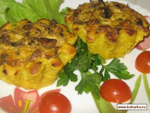 Рецепт Картофельные корзиночки с аппетитной начинкой
