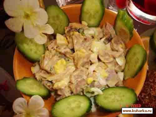 Рецепт Куриный салат с грибами
