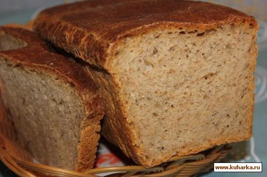 Рецепт Пшенично-ржаной хлеб с отрубями на рассоле