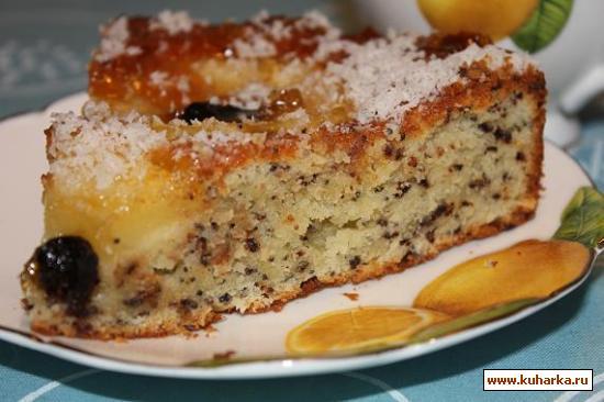 Пирог с творогом и ананасами рецепт в мультиварке