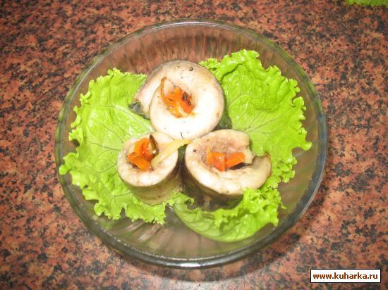Рецепт Рулетики из рыбного филе (на сковороде)