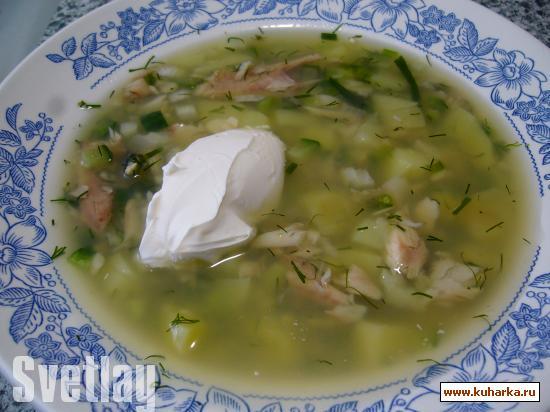 Рецепт Окрошка из рыбы (старорусский рецепт).