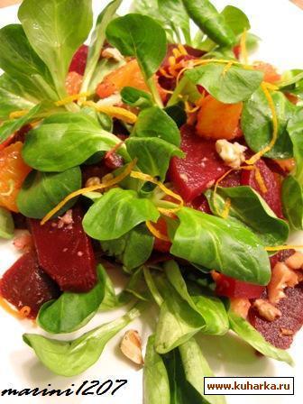 Рецепт Салат из свеклы с апельсинами