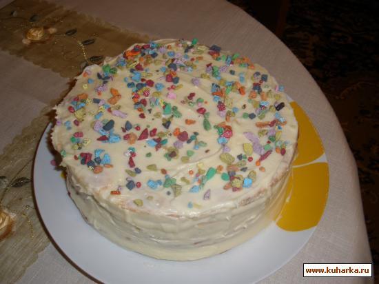 Рецепт Творожный торт на сковороде