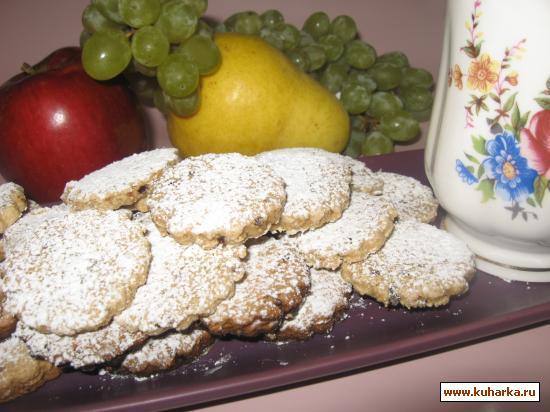 Рецепт Постное овсяное печенье.