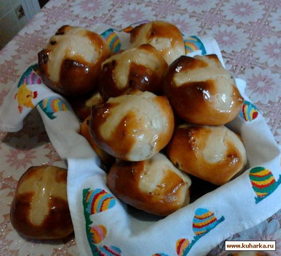 Рецепт Пасхальные крестовые булочки