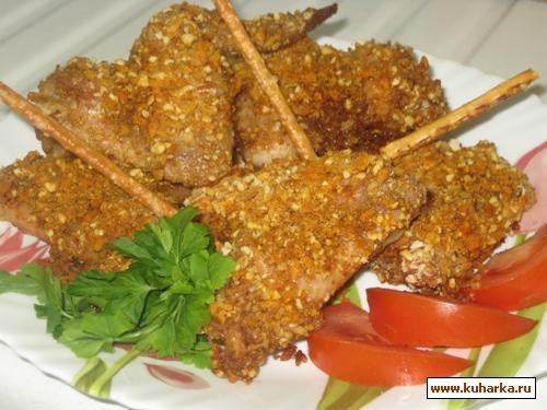 Рецепт Вкусные хрустящие крылышки