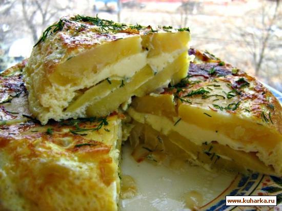 Рецепт Омлет с картошкой