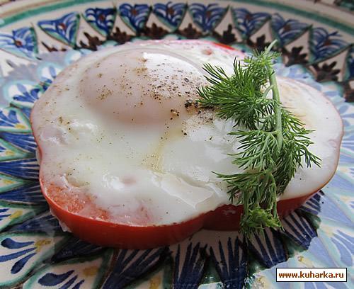 Рецепт Яичница в кольце из перца