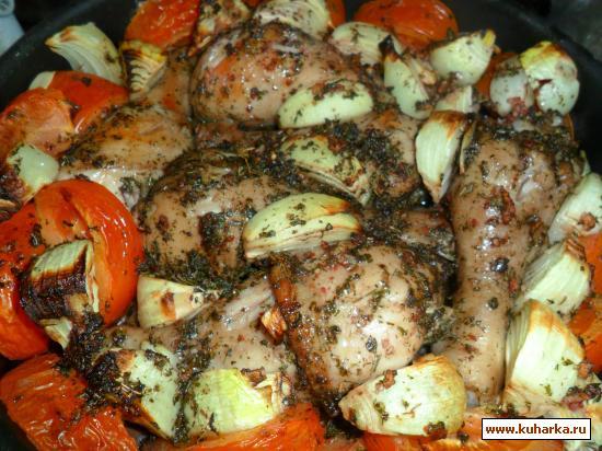 Рецепт Куриные ножки с вином и пряными травами