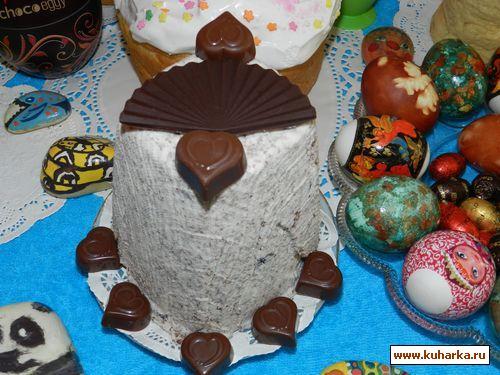 Рецепт Шоколадная,творожная паски