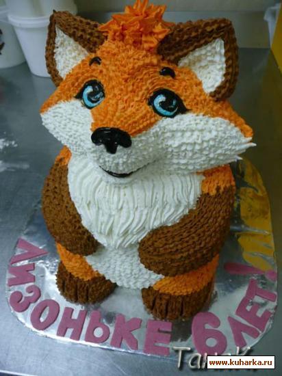 торт в виде лисы фото