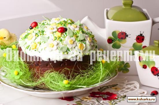 Рецепт Куличи с цукатами и изюмом Юлии Высоцкой